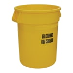 Rubbermaid FG263246YEL 32 gal Food Processing Container - USDA Condemned Imprint, Yellow