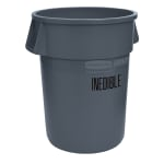 Rubbermaid FG264356GRAY 44-gal Food Processing Container - USDA Condemned Imprint, Gray