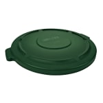 Rubbermaid FG265400DGRN Round Flat Top Trash Can Lid - Plastic, Green