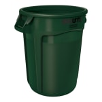 Rubbermaid FG265500DGRN 55 gallon Brute Trash Can - Plastic, Round, Food Rated