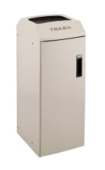 Rubbermaid 3485985 21-gal Multiple Material Recycle Bin - Indoor, Decorative & Fire Resistant