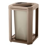 Rubbermaid FG396600DWOOD Trash Can Top Cigarette Receptacle - Outdoor Rated