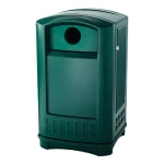 Rubbermaid FG396800DGRN 50 gal Cans Recycle Bin - Outdoor