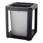 Rubbermaid FG397100 SBLE Trash Can Top Cigarette Receptacle - Outdoor Rated
