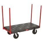 """Rubbermaid FG448200BLA 2500 lb Platform Truck w/ Tie Downs, 48""""L x 24""""W"""