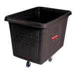 Rubbermaid FG460800 BLA .3 cu yd Trash Cart w/ 300 lb Capacity, Black