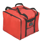 "Rubbermaid FG9F3800 RED Pizza Catering Bag - Insulated Nylon, 17x17x13"" Red"
