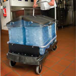 "Rubbermaid FG9F5500BLA ProServe Ice Cart - 100 lb Capacity, 5"" Casters"