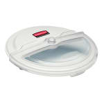 "Rubbermaid FG9G7700 WHT 20 3/4"" ProSave Sliding BRUTE Container Lid - Clear/White"