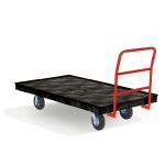 """Rubbermaid FG9T1100 BLA 1000-lb Platform Truck w/ Tie Downs, 70""""L x 40""""W"""