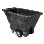 Rubbermaid FG9T1400 BLA .5 cu yd Trash Cart w/ 850 lb Capacity, Black