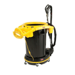 Rubbermaid FG9VDVSS4400 DVAC 1 Pass Cleaning Solution - Straight Suction, 1.55 HP Vacuum Motor, Black