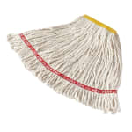"Rubbermaid FGA11106WH00 Small Wet Mop Head - 1"" Headband, Cotton/Synthetic Blend, White"