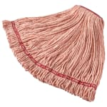 "Rubbermaid FGA11306OR00 Large Wet Mop Head - 1"" Headband, Cotton/Synthetic Blend, Orange"
