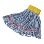 "Rubbermaid FGA15106BL00 Small Wet Mop Head - 5"" Headband, Cotton/Synthetic Blend, Blue"