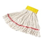 """Rubbermaid FGA15106WH00 Small Wet Mop Head - 5"""" Headband, Cotton/Synthetic Blend, White"""