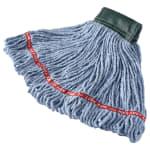 "Rubbermaid FGA15206BL00 Medium Wet Mop Head - 5"" Headband, Cotton/Synthetic Blend, Blue"