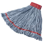 "Rubbermaid FGA15306BL00 Large Wet Mop Head - 5"" Headband, Cotton/Synthetic Blend, Blue"