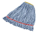 "Rubbermaid FGA21106BL00 Small Wet Mop Head - 1"" Headband, 4 Ply Cotton/Synthetic Blend, Blue"