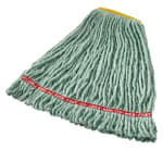 "Rubbermaid FGA21106GR00 Small Wet Mop Head - 1"" Headband, 4 Ply Cotton/Synthetic Blend, Green"