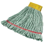 "Rubbermaid FGA25106GR00 Small Wet Mop Head - 5"" Headband, 4 Ply Cotton/Synthetic Blend, Green"