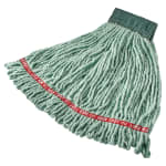 "Rubbermaid FGA25206GR00 Medium Wet Mop Head - 5"" Headband, 4 Ply Cotton/Synthetic Blend, Green"