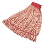 "Rubbermaid FGA25306OR00 Large Wet Mop Head - 5"" Headband, 4-Ply Cotton/Synthetic Blend, Orange"