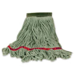 "Rubbermaid FGC15206GR00 Looped-End Medium Wet Mop Head - 5"" Headband, 4-Ply Cotton/Synthetic, Green"