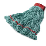 """Rubbermaid FGC15306GR00 Looped-End Large Wet Mop Head - 5"""" Headband, 4 Ply Cotton/Synthetic, Green"""