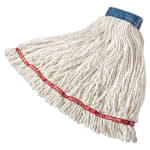 "Rubbermaid FGC25406WH00 Looped-End X-Large Mop Head - 5"" Headband, 4-Ply Cotton/Synthetic, White"