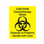 Rubbermaid FGCD1 Chemotherapy Waste Decal - Yellow