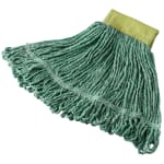 "Rubbermaid FGD25106GR00 Super Stitch Small Mop Head - 5"" Headband, 4 Ply Cotton/Synthetic, Green"