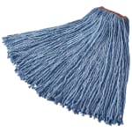 "Rubbermaid FGF51800BL00 24-oz Premium Mop Head - 1"" Headband, 4-Ply Cotton/Rayon/Synthetic, Blue"