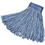 "Rubbermaid FGF55700BL00 20 oz Premium Mop Head - 5"" Headband, 4 Ply Cotton/Rayon/Synthetic, Blue"