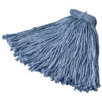 Rubbermaid FGF56600BL00 16 oz Premium Mop Head - Screw-On Head, 4 Ply Cotton/Rayon/Synthetic, Blue