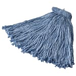 Rubbermaid FGF56700BL00 20-oz Premium Mop Head - Screw-On Head, 4-Ply Cotton/Rayon/Synthetic, Blue