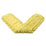"Rubbermaid FGJ15700YL00 48"" Trapper® Dust Mop Head Only w/ Looped Ends, Yellow"