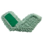 "Rubbermaid FGJ55700GR00 48"" Dust Mop Head Only w/ Twisted Loop Ends, Green"