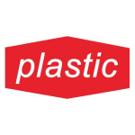 """Rubbermaid FGNCL3 Plastic"""" Recycling Decal - Red/White"""
