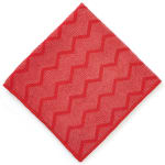 "Rubbermaid FGQ62000RD00 16"" Square Hygen General Purpose Cloth - Microfiber, Red"