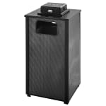 Rubbermaid FGR18WU 500 PL Trash Can Top Cigarette Receptacle - Outdoor Rated