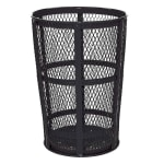 Rubbermaid FGSBR52BK 45 gal Street Basket Outdoor Receptacle - Bottom Drain, Black