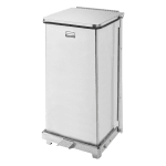 """Rubbermaid FGST12SSPL 12 gal Square Metal Step Trash Can, 12""""L x 12""""W x 23""""H, Stainless"""