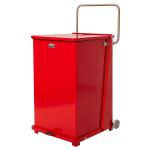 "Rubbermaid FGST40EWPLRD 40-gal Square Plastic Step Trash Can, 19""L x 19""W x 30""H, Red"