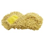"Rubbermaid FGJ15200YL00 18"" Trapper® Dust Mop Head Only w/ Looped Ends, Yellow"