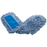 "Rubbermaid FGJ25500BL00 36"" Dust Mop Head Only w/ Twisted Loop Ends, Blue"