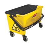 Rubbermaid FGQ90088YEL Microfiber Press Wring Bucket - Yellow