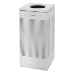 Rubbermaid FGSC14EPLSM 16-gal Indoor Decorative Trash Can - Metal, Silver