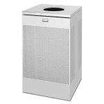 Rubbermaid FGSC18SSPL 20 gal Indoor Decorative Trash Can - Metal, Stainless Steel