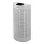 Rubbermaid FGSH12EPLSM 12-gal Indoor Decorative Trash Can - Metal, Silver